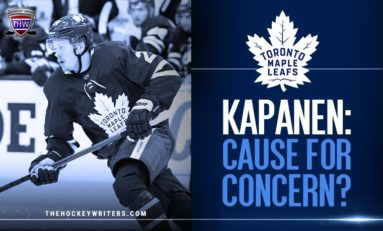 Maple Leafs: Kapanen's Start Cause for Concern?
