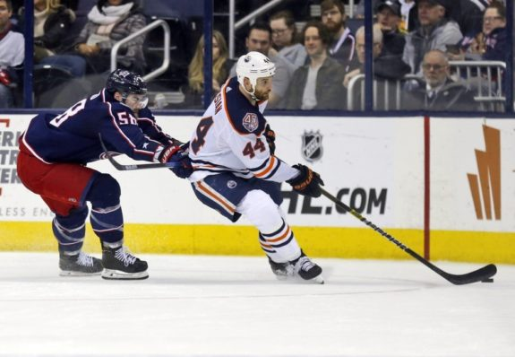Edmonton Oilers Zack Kassian Columbus Blue Jackets David Savard