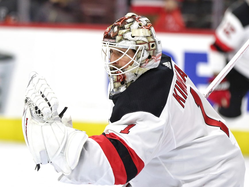 cheap for discount 34c88 cca27 New Jersey Devils: Confident Keith Kinkaid Off to White-Hot ...