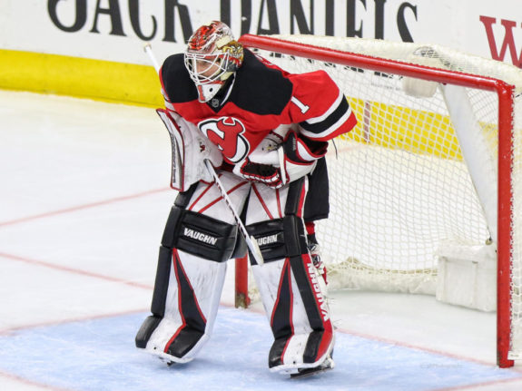 Devils goalie Keith Kinkaid