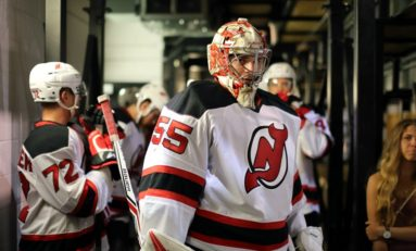 Appleby Makes 1st NHL Start, Devils in Downward Spiral