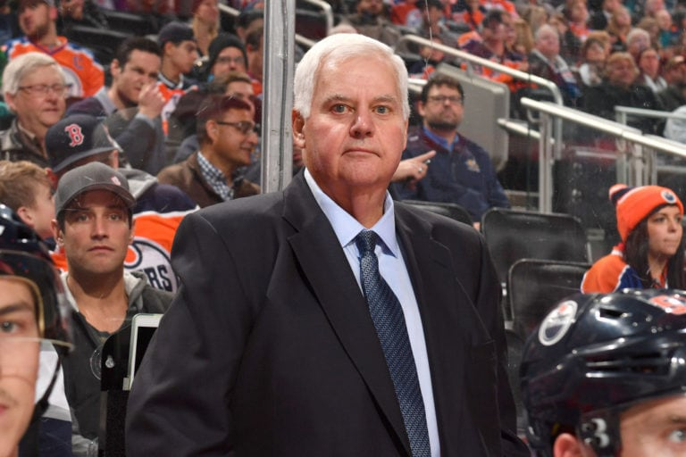 Ken Hitchcock of the Edmonton Oilers
