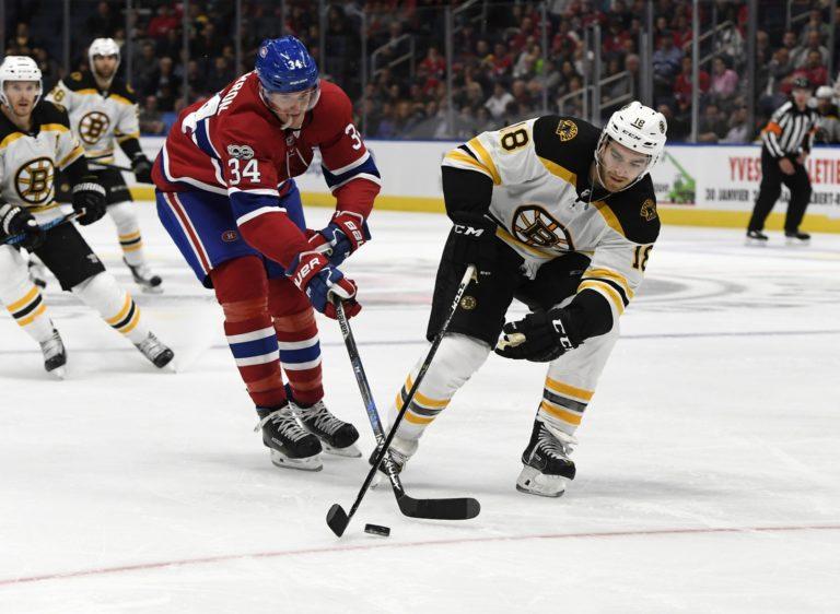 Boston Bruins forward Kenny Agostino