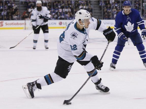 Sharks forward Kevin Labanc