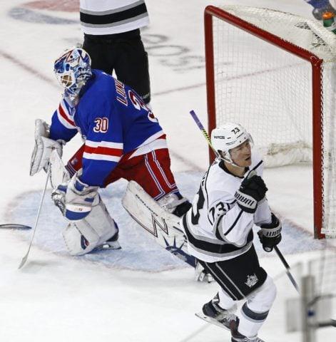 Los Angeles Kings Tyler Toffoli New York Rangers Henrik Lundqvist