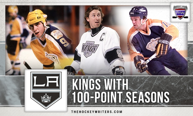 100 point seasons Los Angeles Kings Marcel Dionne Wayne Gretzky Bernie Nicholls