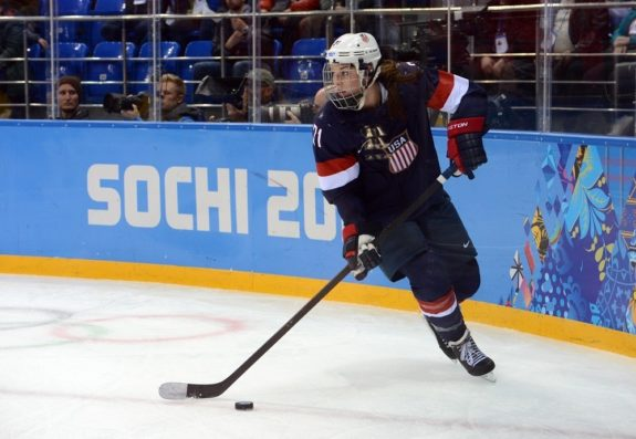 Olympics: Ice Hockey-Women's Semifinals-USA vs Sweden