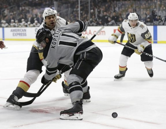 Vegas Golden Knights' Ryan Reaves Los Angeles Kings Anze Kopitar