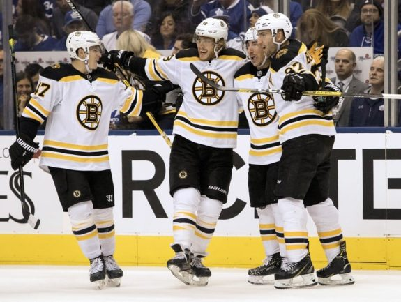 Boston Bruins David Pastrnak Torey Krug Brad Marchand Patrice Bergeron