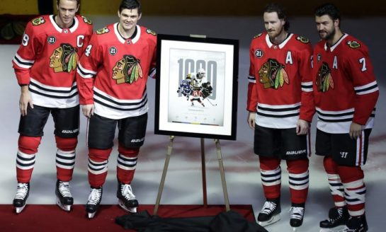 Blackhawks Beat Devils - Kane Point Streak at 16 Games