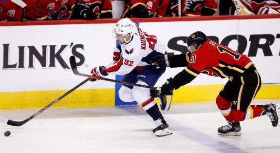 Washington Capitals Evgeny Kuznetsov Calgary Flames Derek Ryan