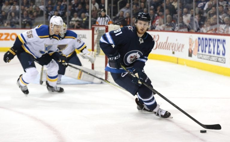 Jets left wing Kyle Connor