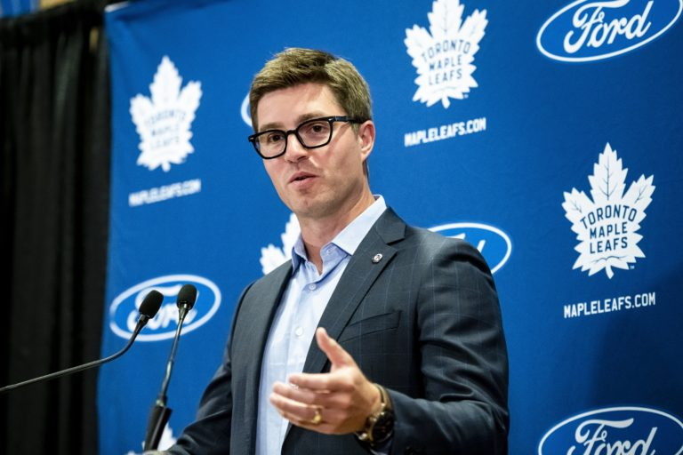 Toronto Maple Leafs general manager Kyle Dubas