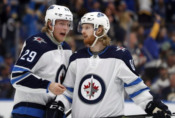 Winnipeg Jets' Patrik Laine Kyle Connor