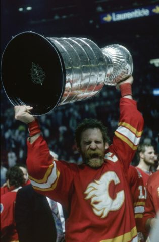 Lanny McDonald of the Calgary Flames