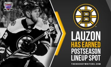 Bruins Lauzon Has Earned Postseason Lineup Spot
