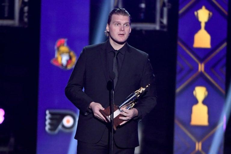 Robin Lehner New York Islanders Bill Masterton
