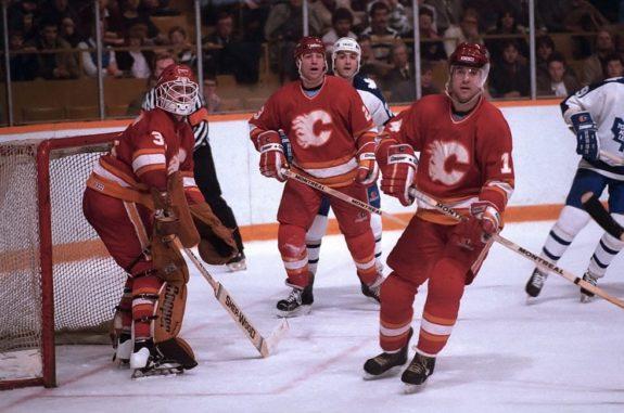 Reggie Lemelin Paul Reinhart Kent Nilsson Calgary Flames
