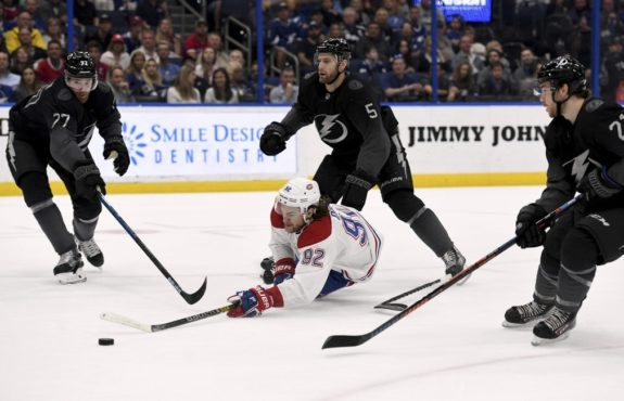 Montreal Canadiens Jonathan Drouin Tampa Bay Lightning Dan Girardi