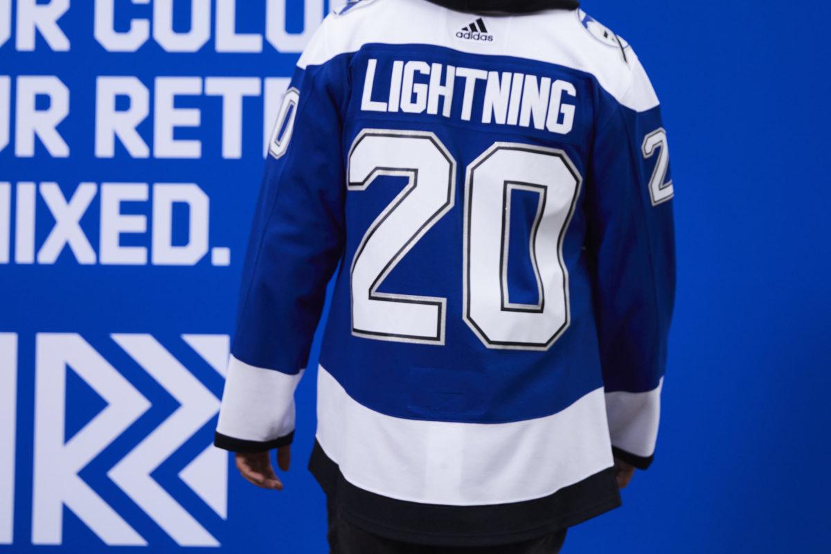 Tampa Bay Lightning Reverse Retro jersey