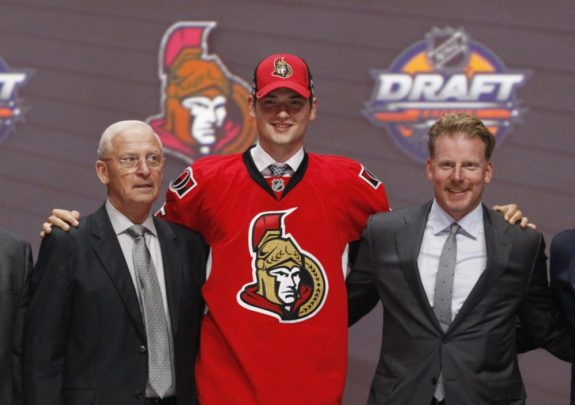(Timothy T. Ludwig-USA TODAY Sports) I really thought Logan Brown's size — as a 6-foot-6 centre — would have got him into the top 10, but instead Brown went 11th to the Ottawa Senators. That's how close I came to nailing the top 10 in my original mock. Ironically, I had Clayton Keller going to Ottawa at 12th, but the Senators traded up one spot to select Brown.