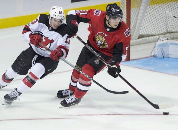 Ottawa Senators Logan Brown New Jersey Devils Nico Hischier
