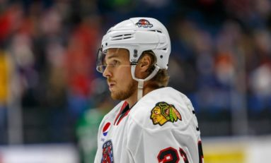 Blackhawks' Lucas Carlsson Makes His Debut