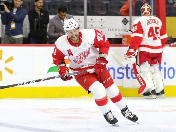 Luke Glendening of the Detroit Red Wings