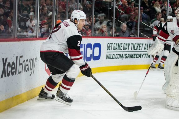 Coyotes defenseman Luke Schenn