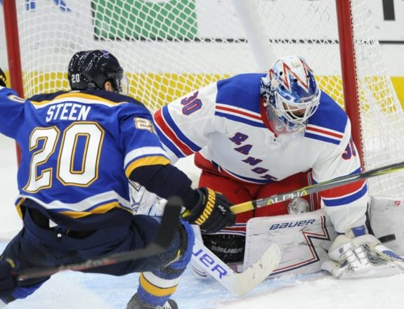 New York Rangers Henrik Lundqvist St. Louis Blues Alexander Steen