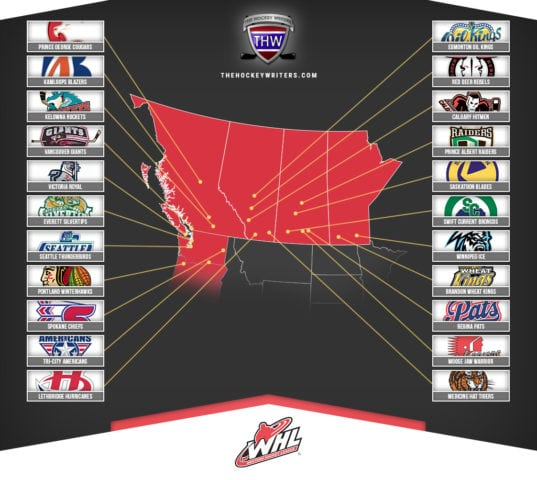 WHL Map Teams