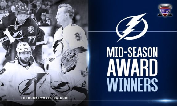 Tampa Bay Lightning's mid-season award winners Victoir Hedman Steven Stamkos Nikita Kucherov Andrei Vasilevskiy