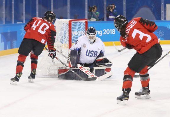 United States goalkeeper Maddie Rooney