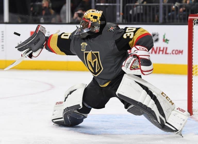 Vegas Golden Knights goalie Malcolm Subban