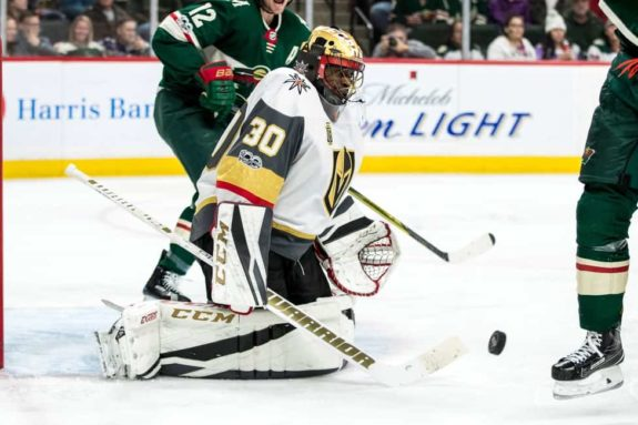 Vegas Golden Knights goalie Malcolm Subban
