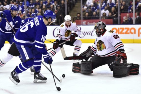 Toronto Maple Leafs Mitch Marner Chicago Blackhawks Corey Crawford