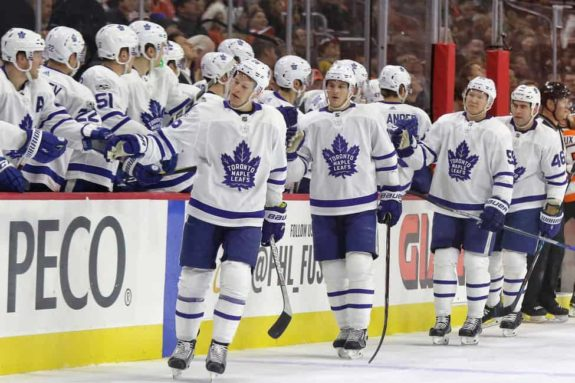 Maple Leafs bench