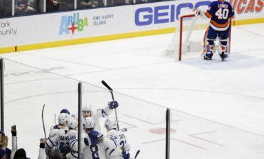 Maple Leafs Edge Isles on Long Island - Tavares Scores