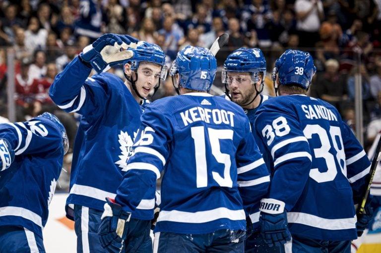 Toronto Maple Leafs Ilya Mikheyev Alexander Kerfoot Morgan Rielly Rasmus Sandin