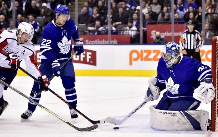 Toronto Maple Leafs Frederik Andersen Nikita Zaitsev Washington Capitals Nicklas Backstrom