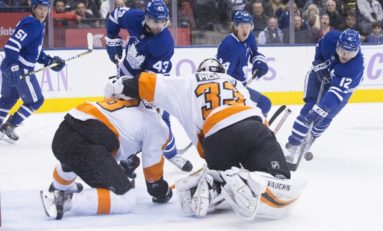 Maple Leafs Dominate Flyers - Johnsson With First-Period Hat Trick