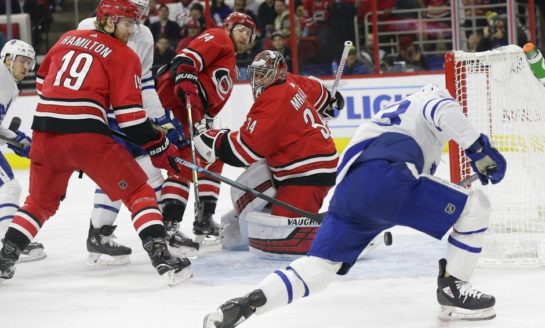 Maple Leafs Drown Hurricanes - Rielly With the Winner