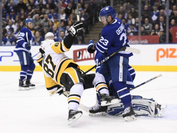Pittsburgh Penguins Sidney Crosby Toronto Maple Leafs Travis Dermott