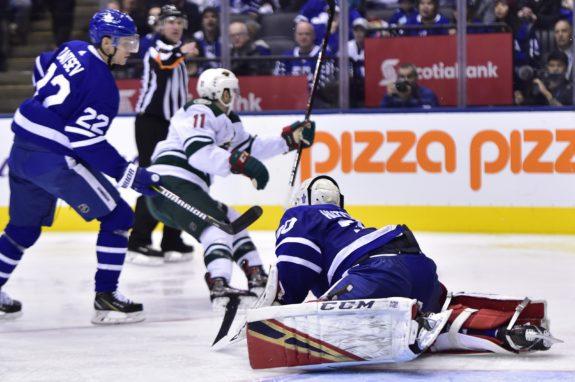 Minnesota Wild Zach Parise Toronto Maple Leafs Michael Hutchinson Nikita Zaitsev