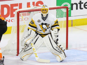 (Amy Irvin/The Hockey Writers) Expect to hear more and more chatter about Marc-Andre Fleury becoming a Golden Knight if the Penguins are unable to move him prior to the trade deadline on Feb. 28.