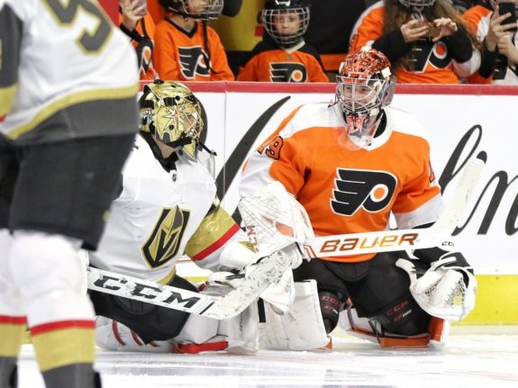 Marc-Andre Fleury Vegas Golden Knights Carter Hart Philadelphia Flyers