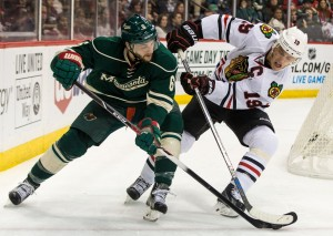 The Minnesota Wild and Chicago Blackhawks will face off this Sunday in Minnesota's first-ever outdoor game. (Brace Hemmelgarn-USA TODAY Sports)