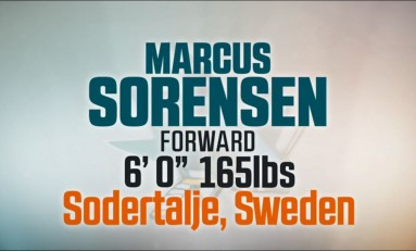 Marcus Sorensen's Speed Fits Right In With Sharks