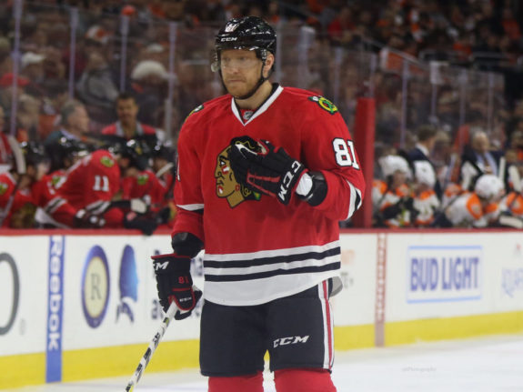 Marian Hossa of the Chicago Blackhawks.