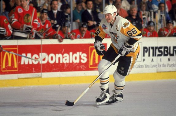 Mario Lemieux, forward for the Pittsburgh Penguins